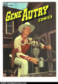 """Golden Age (1938-1955):Western, Gene Autry Comics #13 (Dell, 1948) Condition: VF. Photo cover. Feature story is """"Gene Autry and The Hawk."""" Nice page quality..."""