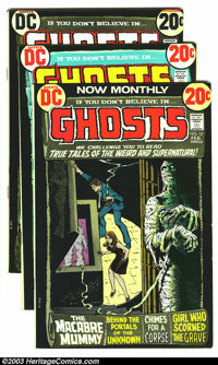 Ghosts Group (DC, 1973-74). This lot consists of issues #12 (VF); 13 (NM-); 14 (NM-); 18 (VF/NM). Overstreet 2003 value...