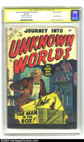 Golden Age (1938-1955):Horror, Journey into Unknown Worlds #33 (Atlas, 1955) CGC GD+ 2.5 Light tanto off-white pages. Signature Series Steve Ditko art (hi...