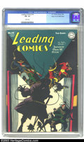 Golden Age (1938-1955):Superhero, Leading Comics #14 Mile High pedigree (DC, 1945) CGC FN- 5.5 White pages. Seven Soldiers of Victory; Edgar Church copy. Over...