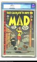 Golden Age (1938-1955):Humor, Mad #4 (EC, 1953) CGC VF/NM 9.0 Cream to off-white pages. Superman parody story plus a reefer mention story. Overstreet 2003...