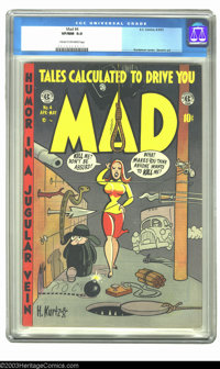 Mad #4 (EC, 1953) CGC VF/NM 9.0 Cream to off-white pages. Superman parody story plus a reefer mention story. Overstreet...