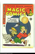 Golden Age (1938-1955):Humor, Magic Comics #58 (David McKay Publications, 1944) Condition: FN/VF. Daisy and Alexander cover. Overstreet 2003 FN 6.0 value ...