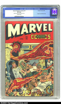 Marvel Mystery Comics #71 Nicolas Cage pedigree (Timely, 1946) CGC VF 8.0 Off-white pages. Angel and Sub-Mariner story...