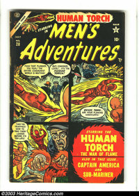 Men's Adventures #28 (Atlas, 1954) Condition: GD/VG. Human Torch cover/story; Captain America by John Romita; Sub-Marine...