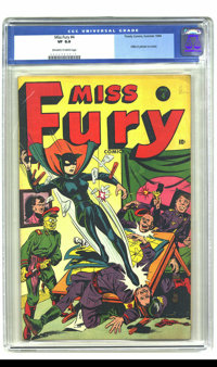 Miss Fury #4 (Timely, 1944) CGC VF 8.0 Off-white to white pages. Hitler picture on cover. Overstreet 2003 VF 8.0 value =...