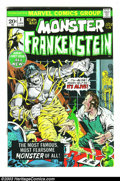 Bronze Age (1970-1979):Horror, The Monster of Frankenstein #1 (Marvel, 1972) Condition: VF. MikePloog cover and art. Overstreet 2003 VF 8.0 value = $38....