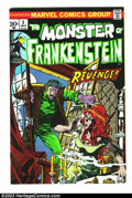 Bronze Age (1970-1979):Horror, The Monster of Frankenstein #3 (Marvel, 1973) Condition: NM. MikePloog cover and art. Overstreet 2003 NM 9.4 value = $25....