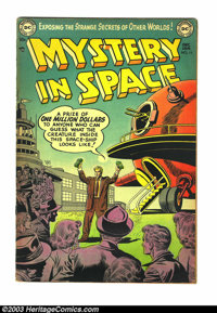Mystery in Space #11 (DC, 1953) Condition: VG/FN. Excellent DC 1950s science fiction. Overstreet 2003 VG 4.0 value = $74...