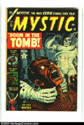 Golden Age (1938-1955):Horror, Mystic #22 (Atlas, 1953) Condition: FN. One killer mummy is badenough, but two?! This great cover is by Russ Heath. Overstr...