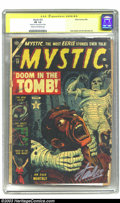 """Golden Age (1938-1955):Horror, Mystic #22 (Atlas, 1953) CGC FR 1.0 Cream to off-white pages.Signature Series. Russ Heath and Joe Maneely art. CGC notes, """"..."""
