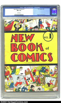 New Book of Comics #1 (DC, 1937) CGC FN+ 6.5 White pages. This is the first regular-sized comic annual, and the second D...