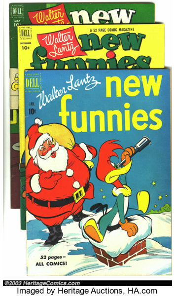 b3054bf06a New Funnies Group (Dell, 1951-55). This lot consists of issues | Lot ...