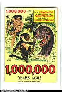 ONE MILLION YEARS AGO #1 (St. John, 1953) Condition: VF+. Origin and first appearance of Tor by Joe Kubert. Overstreet 2...