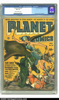 Planet Comics #24 (Fiction House, 1943) CGC FN- 5.5 Cream to off-white pages. Zolnerowich cover, Graham Ingels artwork...