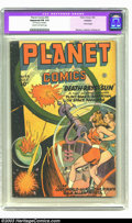 Golden Age (1938-1955):Science Fiction, Planet Comics #43 (Fiction House, 1946) CGC Apparent FN 6.0 Creamto off-white pages. Bottom edge trimmed. Futura begins. Ov...