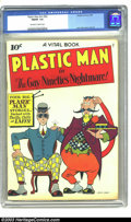 Golden Age (1938-1955):Superhero, Plastic Man #nn (#2) (Quality, 1944) CGC FN/VF 7.0 Off-white to white pages. Jack Cole cover and art. Overstreet 2003 FN 6.0...