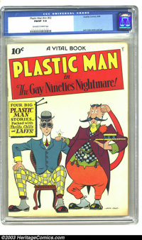 Plastic Man #nn (#2) (Quality, 1944) CGC FN/VF 7.0 Off-white to white pages. Jack Cole cover and art. Overstreet 2003 FN...