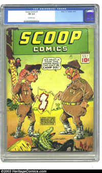 Scoop Comics #1 (Chesler, 1941) CGC FN 6.0 Off-white pages. First appearance Rocketman and Rocketgirl. Overstreet 2002 F...