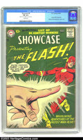 Silver Age (1956-1969):Superhero, Showcase #8 Flash (DC, 1957) CGC FN 6.0 Cream pages. Second appearance of the Silver Age Flash. Origin and first appearance ...