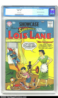 Silver Age (1956-1969):Superhero, Showcase #9 Lois Lane (DC, 1957) CGC FN- 5.5 Off-white pages. First Lois Lane try-out issue; Superman appearance. Al Plastin...