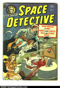 Space Detective #1 (Avon, 1951) Condition: GD+. Wally Wood cover/story art; drug story. Tape on cover. Overstreet 2003 G...