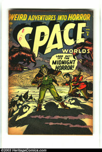 Space Worlds #6 (Atlas, 1952) Condition: VG-. Formerly Space Squadron. Only issue of title. Overstreet 2003 VG 4.0 value...