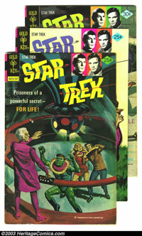 Star Trek Group (Gold Key, 1975-76). Issues #31 grades FN, issue #32 and 40 are VF+. Overstreet 2003 value for group = $...