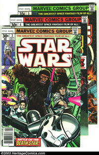 Star Wars Group (Marvel, 1977-78) Condition: VF/NM. This lot consists of issues #3-6, and 8-10. Overstreet 2003 value fo...
