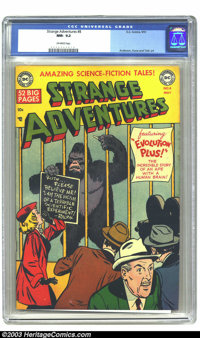 """Strange Adventures #8 (DC, 1951) CGC NM- 9.2 Off-white pages. """"Evolution Plus!"""" Gorilla cover. Murphy Anderson..."""