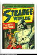 Golden Age (1938-1955):Science Fiction, Strange Worlds #8 (Avon, 1952) Condition: FN+. Homicidal robotcover. Overstreet 2003 FN 6.0 value = $120. From theCollec...