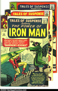 Tales of Suspense Group (Marvel, 1964-67) Condition: Average VG. This lot consists of issues #54, 57, 63, 84, and 93. Fe...