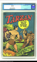 Golden Age (1938-1955):Miscellaneous, Tarzan #1 (Dell, 1948) CGC VF 8.0 Light tan to off-white pages. Jesse Marsh cover and interior art. Nice copy of the first i...