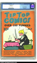 Golden Age (1938-1955):Miscellaneous, Tip Top Comics #7 (United Features Syndicate, 1936) CGC VG 4.0 Cream to off-white pages. Photo and biography of Edgar Rice B...
