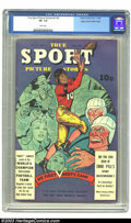 Golden Age (1938-1955):Non-Fiction, True Sport Picture Stories V3#5 Mile High pedigree (Street &Smith, 1946) CGC VF- 7.5 White pages. A very well-preserved com...