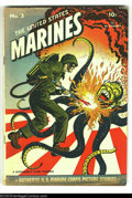 Golden Age (1938-1955):War, United States Marines #3 (Wm. H. Wise & Co., 1943) Condition:VG-. Tojo cover. Overstreet 2003 VG 4.0 value = $52....