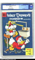 Golden Age (1938-1955):Cartoon Character, Walt Disney's Comics and Stories #181 (Dell, 1955) CGC NM+ 9.6Off-white to white pages. Overstreet 2002 NM 9.4 value = $50....