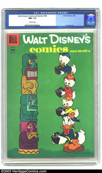 Walt Disney's Comics and Stories #186 (Dell, 1956) CGC NM+ 9.6 Off white pages. Carl Barks art. Overstreet 2003 NM 9.4 v...