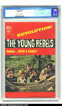 """Young Rebels #1 (Dell, 1971) CGC NM- 9.2 Off-white to white pages. They're """"Rebels... With A Cause!"""" Photo cov..."""