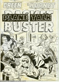 Original Comic Art:Covers, Al Avison (attributed) - Original Cover Art for Green Hornet,Racket Buster #44 (Harvey, 1949). This is a great piece of vin...