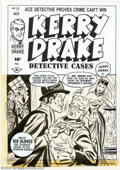 Original Comic Art:Covers, Bob Powell - Original Cover Art for Kerry Drake Detective Cases #11(Harvey, 1949). This sweet cover by art legend Bob Powel...