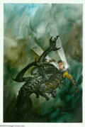 Original Comic Art:Sketches, Dave Dorman - Original Painted Art for Aliens: Tribes, page 53 (Dark Horse, 1992). From the Eisner-winning illustrated novel...