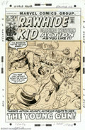Original Comic Art:Covers, Larry Lieber - Original Cover Art for The Rawhide Kid #97 (Marvel,1972). Blazing western action as you like it! The bandits...