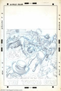 Original Comic Art:Covers, Larry Lieber - Original Pencil Preliminary for Cover of The RawhideKid #97 (Marvel, 1972). There's action aplenty, on this ...