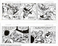 Larry Lieber - Original Comic Strip Art for The Amazing Spider-Man Daily, Lot of 100 (King Features Syndicate, 1985-1996...