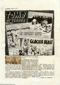 Original Comic Art:Miscellaneous, Production Art for Tomb of Terror #4 Contents Page (All Stats)(Harvey, 1952). This fun piece of history is the production a...