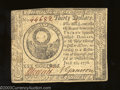 Colonial Notes:Continental Congress Issues, July 22, 1776, $30, Continental Congress Issue, CC-46, CU. ...