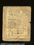 Colonial Notes:Pennsylvania, June 18, 1764, 20s, Plate A, Pennsylvania, PA-126, VF. This ...
