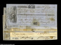 Miscellaneous:Checks, Seven checks from 1850 into the 1880s with six of the checks ... (7notes)
