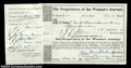 Stocks and Bonds:Certificates with Significant Autographs, Alice Stone Blackwell - The Proprietors of the Woman's ...